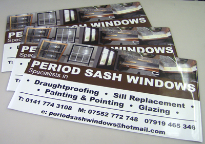 Full Colour Magnetic signs Glasgow